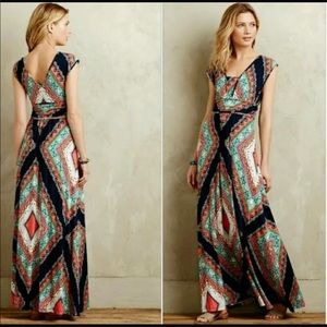 Anthropologie Maeve Verda Maxi Dress comfortable